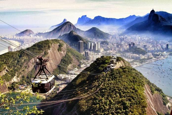The Sugarloaf Cable Car in Rio de Janeiro, Brazil