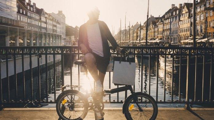Man Standing by Canal in Copenhagen