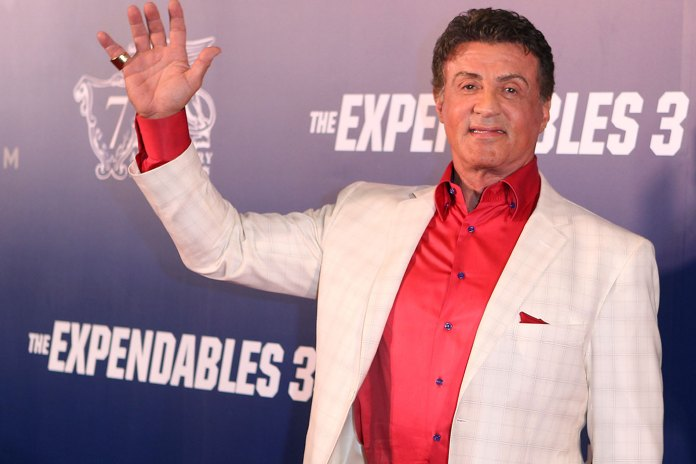 Sylvester Stallone arrives a special screening of 'The Expendables 3' at The Venetian Macao on August 22, 2014 in Macau, Macau. (Photo by VCG/VCG via Getty Images)