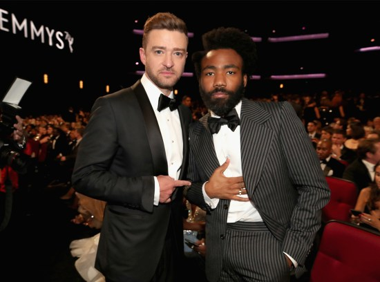 Actor/singer Justin Timberlake and actor/writer Donald Glover attend the 70th Annual Primetime Emmy Awards held at the Microsoft Theater on September 17, 2018.