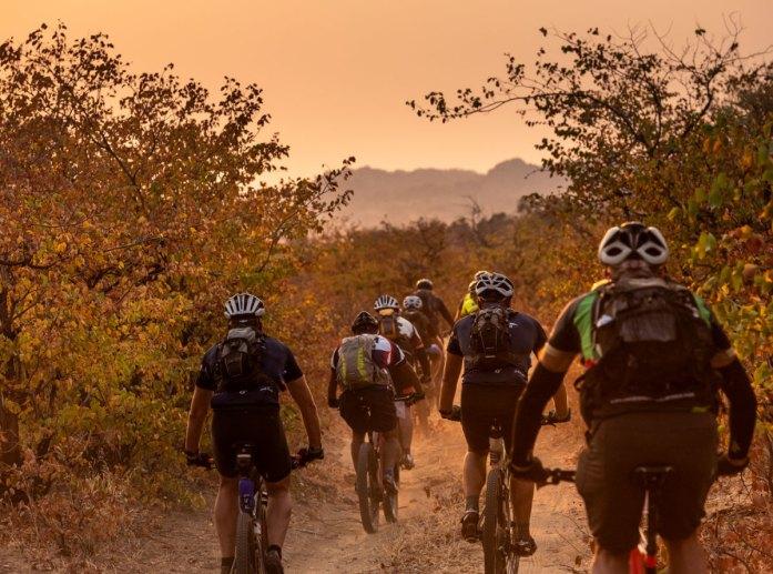 Cyclists riding in 2018 Nedbank Tour de Tuli