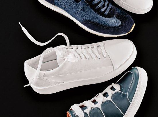 Santoni all-white sneaker
