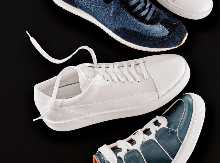 Santoni all-white sneaker