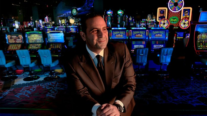 The SLS Hotel Casino in Las Vegas is the latest venture by Sam Nazarian October 31, 2014. The new property is actually located at the site of the old Sahara Hotel Casino (^^^ / Los Angeles Times ). (Photo by Mark Boster/Los Angeles Times via Getty Images)