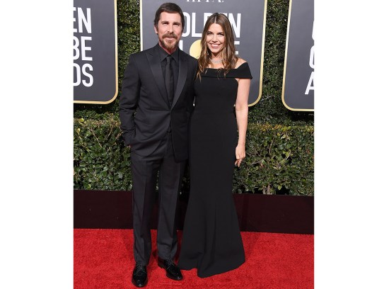Christian Bale, Sibi Blazic arrives at the 76th Annual Golden Globe Awardsat The Beverly Hilton Hotel on January 6, 2019 in Beverly Hills, California.
