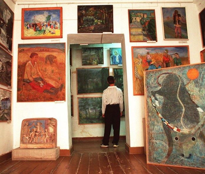 extensive collection of gulag-era art in a museum in Nukus, Uzbekistan in October 2001