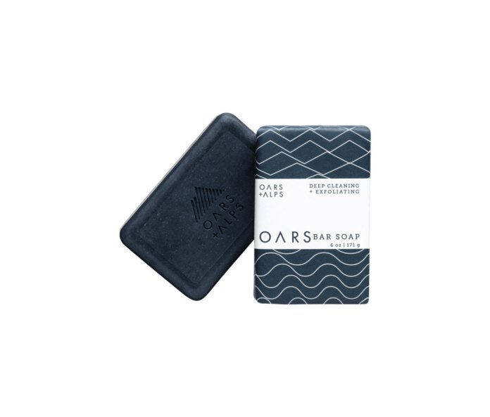 Oars+Alps Blue Charcoal Bar Soap.