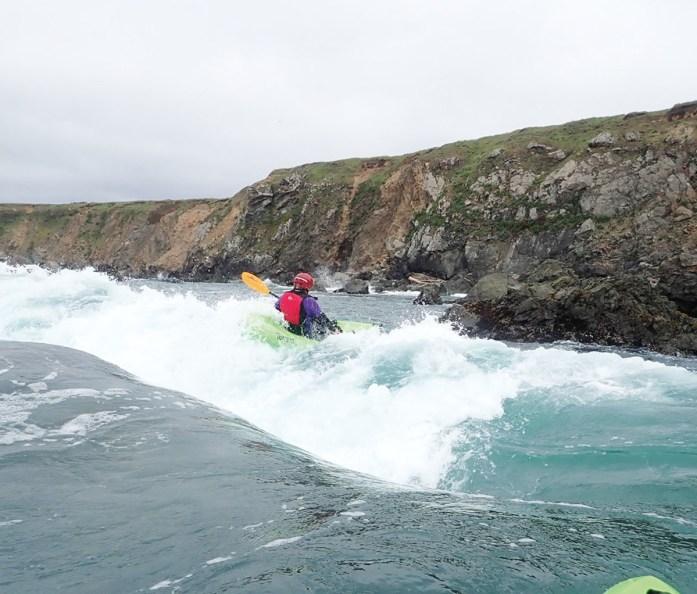 Ocean white water kayaking.