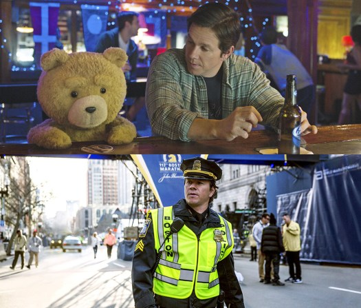 """Wahlberg can play wingman (""""Ted 2"""") just as well as hometown hero (""""Patriots Day"""")."""