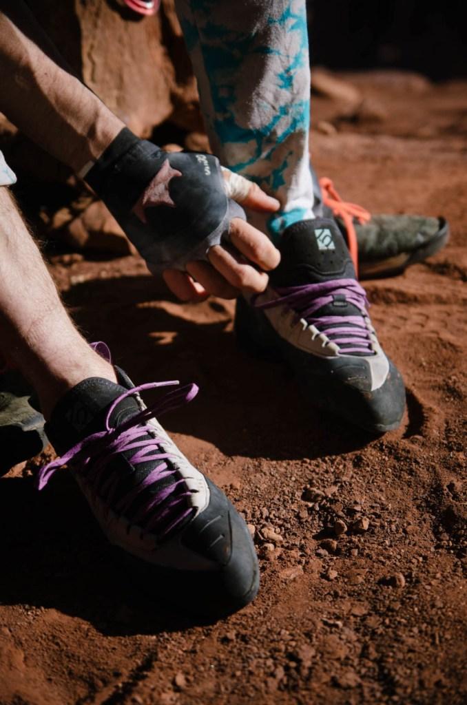 Five Ten climbing shoe