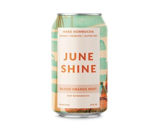 JuneShine Blood Orange Mint Hard Kombucha