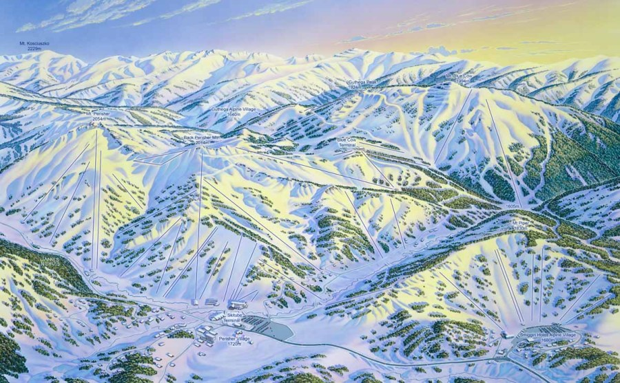 Australia ski resort map courtesy Perisher James Niehues