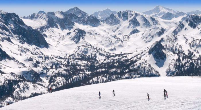 Mammoth Ski Resort Panorama Vista Eastern Sierra California
