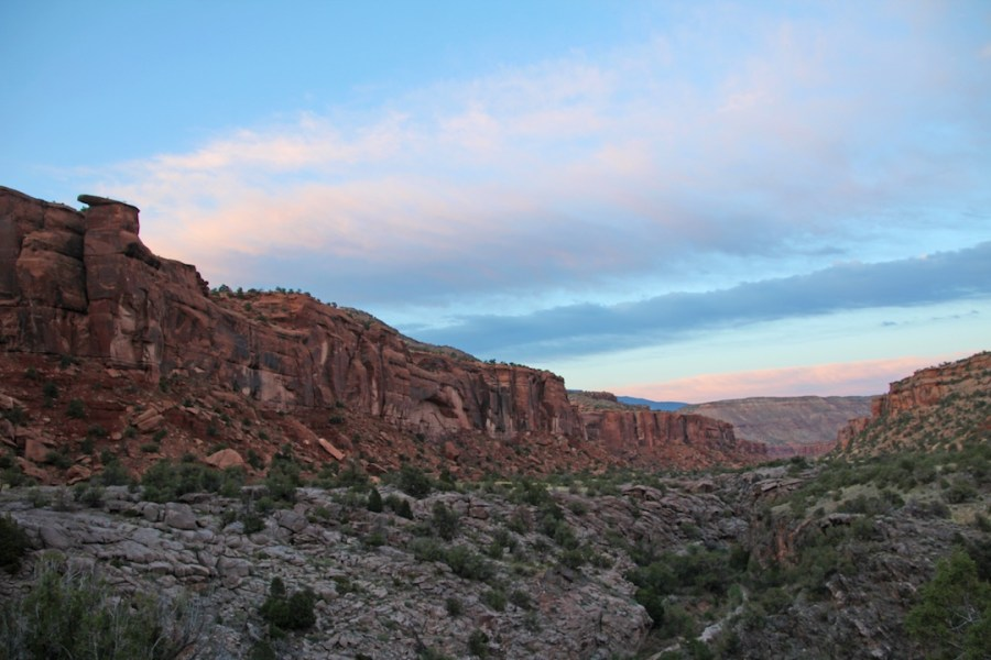 Sunset in Dominguez Canyon in Western Colorado