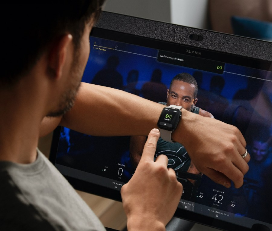 Peloton x Apple Watch Gymkit feature