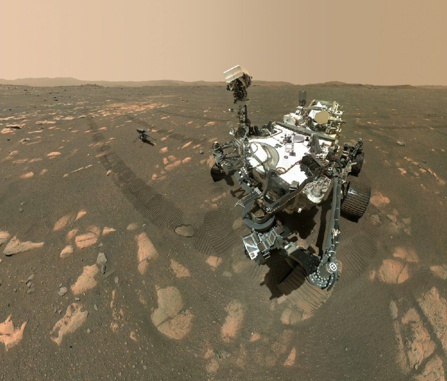 The Perseverance rover and Ingenuity Mars helicopter
