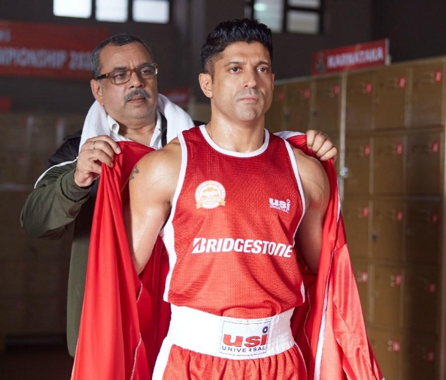 Actor Farhan Akhtar as Aziz Ali in 'Toofaan'