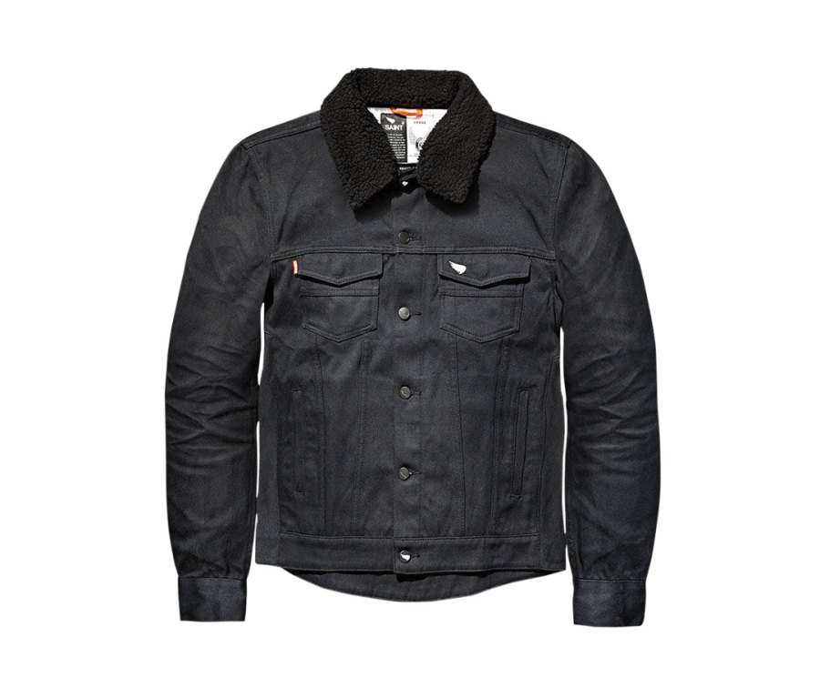 Saint Denim Shearling Jacket