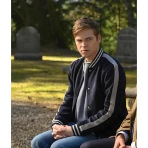 Alexander Calvert Supernatural S15 Varsity Jacket