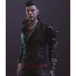 Dracula Cyberpunk 2077 Black Leather Jacket