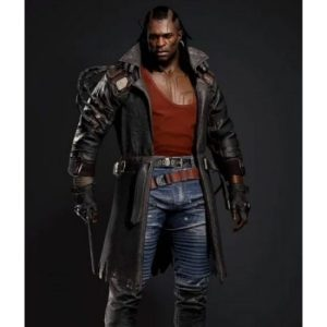 Placide Cyberpunk 2077 Trench Brown Leather Coat