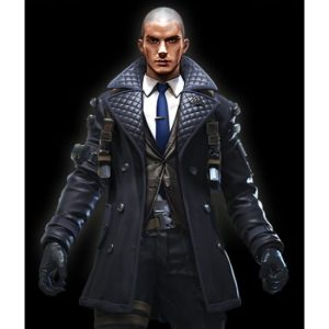 Free Fire Rafael Quilted Black Leather Coat
