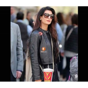 Amal Clooney Black Leather Jacket For Women