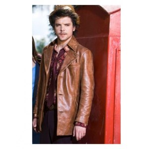 Andrew-Lee Potts Alice Brown Leather Jacket