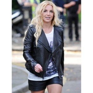 Britney Spears Quilted Leather Jacket