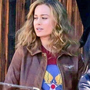 Carol Danvers Brown Bomber Leather Jacket