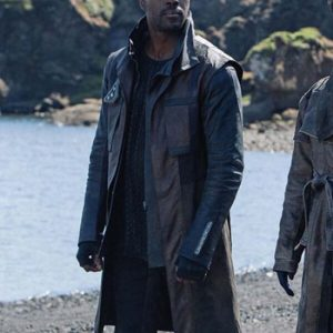 Cleveland Booker Star Trek Discovery S03 Leather Brown Coat
