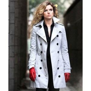 Gotham Barbara Kean White Cotton Coat