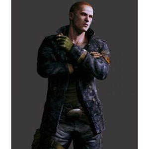 Jake Muller Blue Resident Evil 6 Leather Jacket