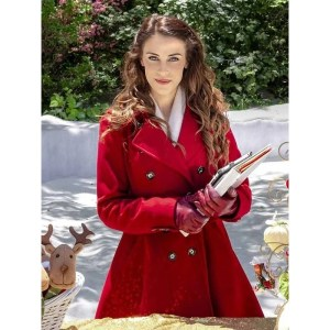 Jessica Lowndes Christmas at Pemberley Manor Red Coat
