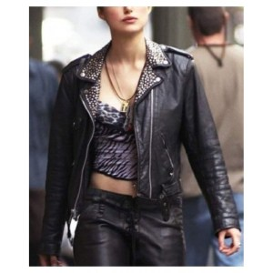 Keira Knightley Domino Leather Jacket For Women's