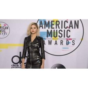Stylish Selena Gomez leather black jacket