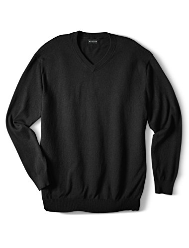 Rochester by DXL Big and Tall Cotton//Cashmere V-Neck Sweater