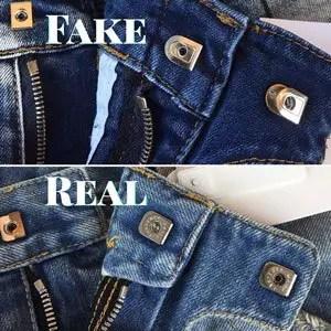 fake balmain jeans fastener