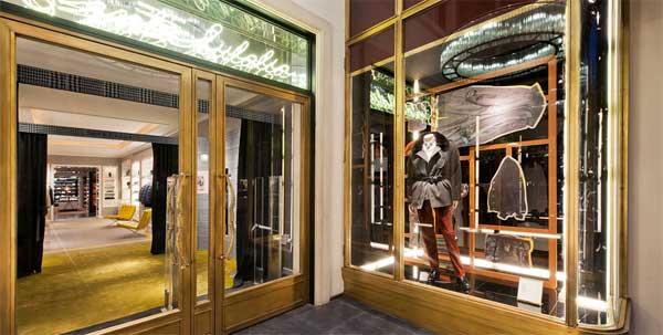 santa eulalia barcelona fashion store men's section