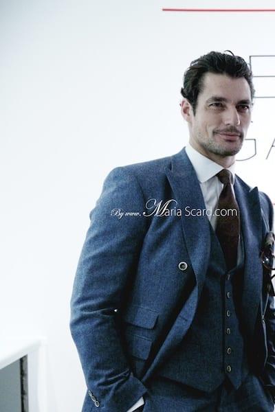 David Gandy REISS blue suit London Collections Men 2013