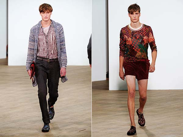 Topman Design Velvet shorts 2012