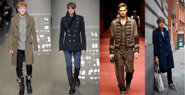 Men's Military Clothing - catwalk
