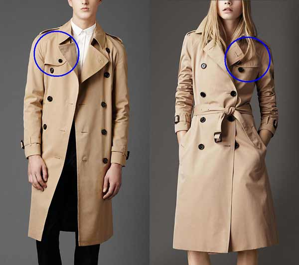 What is the difference between Men and Women Trench Coat - Find out here