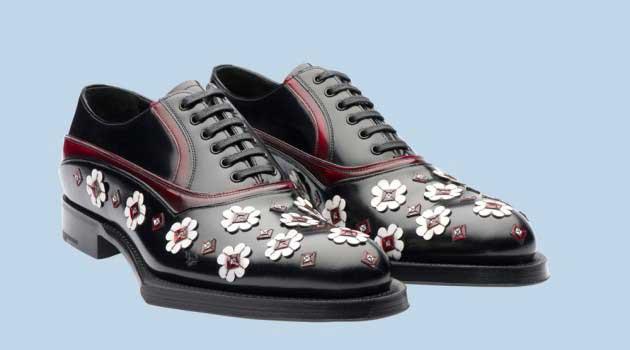 Prada Brogues – Floral Shoe Hits The Street