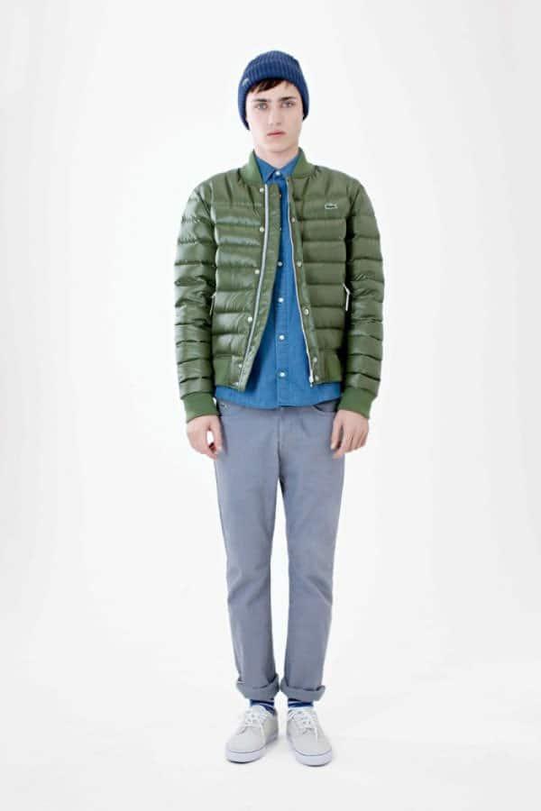 Lacoste Live Fall Winter 2012 2013 Men Green Winter jacket