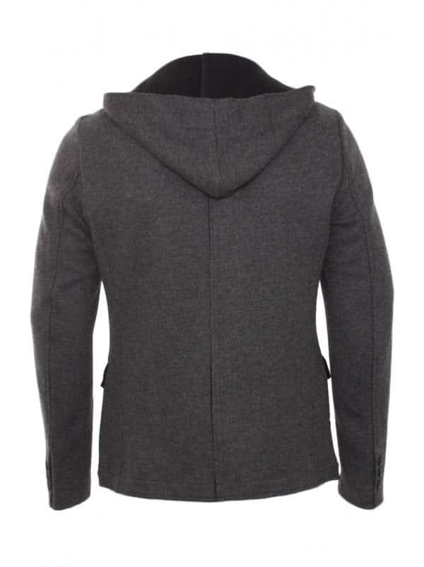 antony morato 2012 winter grey hooded blazer