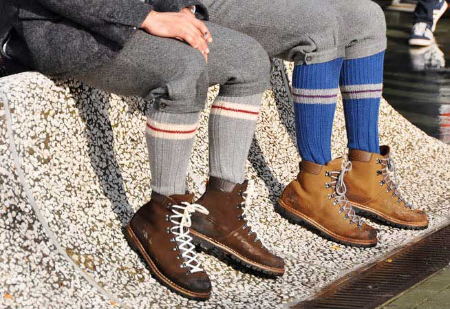 Winter socks and boots