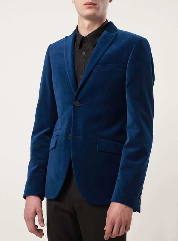 Topman tea velvet skinny blazer 2012
