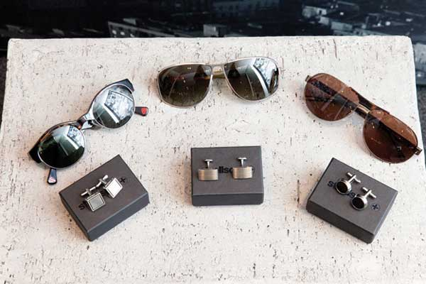 Strellson - sunglasses and cufflinks