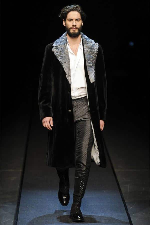 Canali Winter jackets for men and patent boots 2013